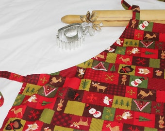 Christmas at the Cabin Adult Apron