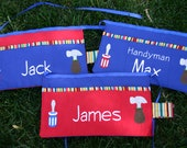 Child's Tool Belt with Embroidered Name and tools