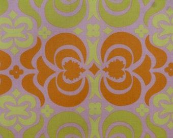 Amy Butler Fabric, Garden Maze, Pink, AB23), Pink, Orange, Yellow, Modern