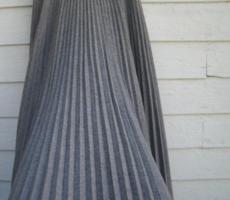 grey wool accordion pleated skirt 26 by seamsbysarah