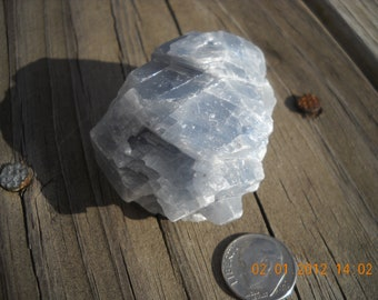 Blue Calcite raw calming crystal stone natural Healing stone
