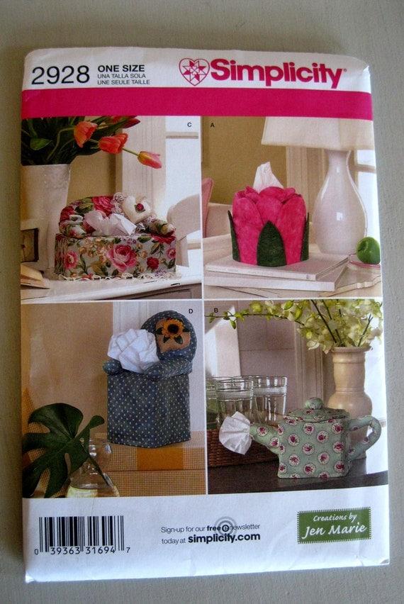 Simplicity 2928 Kleenex Tissue Box Cover Pattern Sofa Tea Pot