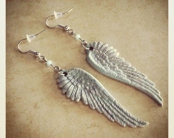 Mint Angel Wing Earrings