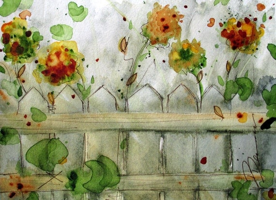Wildflowers Watercolor Sketch