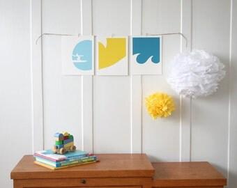 Surfer Nursery Art Prints