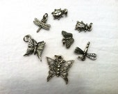 Eleven Charms, Butterflies, Ladybugs, Fairies, Dragonflies, Cute Things that Fly, Mixed Lot