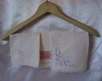 Vintage Linens Linen Cotton Handkerchief
