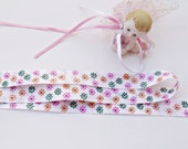 Multicolor Flower design Satin Ribbon- Two (2) yard