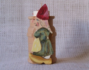 Folk Figures Toothpick Holder