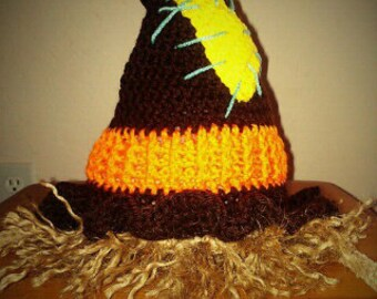Crocheted Scarecrow Hat
