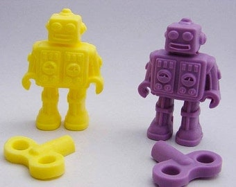 Wind Up Robot Soaps