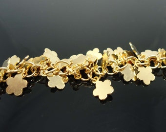 A-30. 20cm , Gold Plated Petal, Flower Chain -751 H
