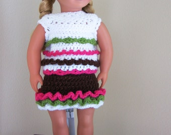 American Girl Crochet Pattern Chocolate Sundae Outfit Crochet Pattern PDF Instant Download File Doll Clothes