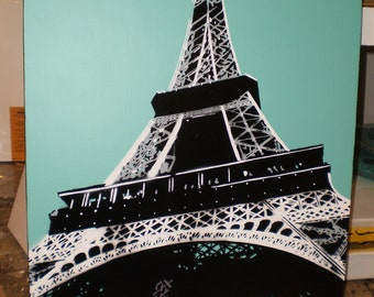 Eiffel Tower (teal)