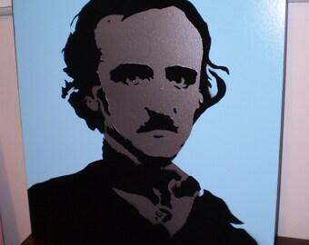 Edgar Allen Poe (baby blue/chrome)
