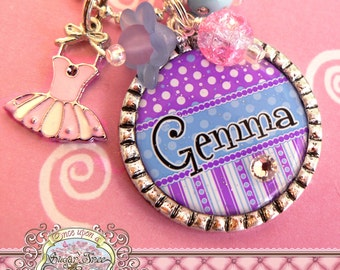 CHILDREN'S BALLET Jewelry, Dance Necklace, Personalized Pendant, Ballerina Gift, Dance Recital Gift, Pink Tutu, Slippers, Birthday