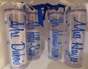 10 Tumblers For Bride And Bridesmaids Wedding Party Acrylic