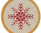 Holiday Snowflake Cross Stitch Pattern PDF File