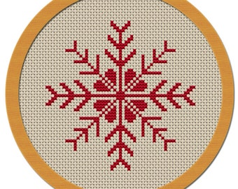 Holiday Snowflake Cross Stitch Pattern PDF File