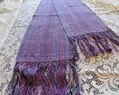 Handwoven Lavender Chenille Scarf