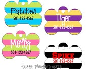 Personalized Dog Tag - Rugby Stripes