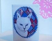 Celia's Cat, Greetings Card