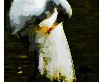 Loneliness Drama Unique Digital Painting