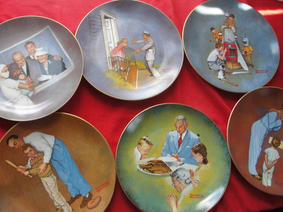 Norman Rockwell's American Family Series II - set of six plates