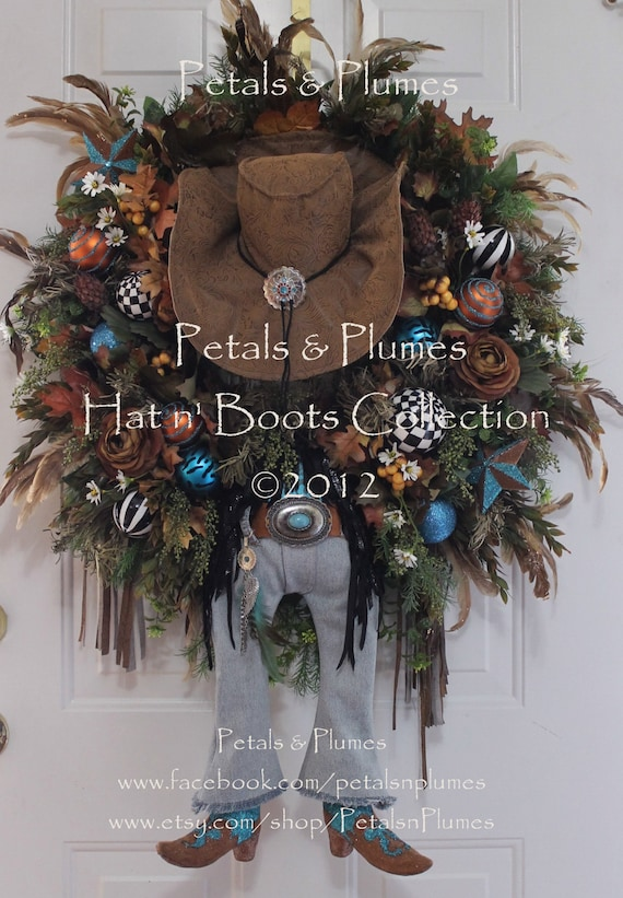 Items similar to western wreath cowgirl diva fall for West to best items ideas