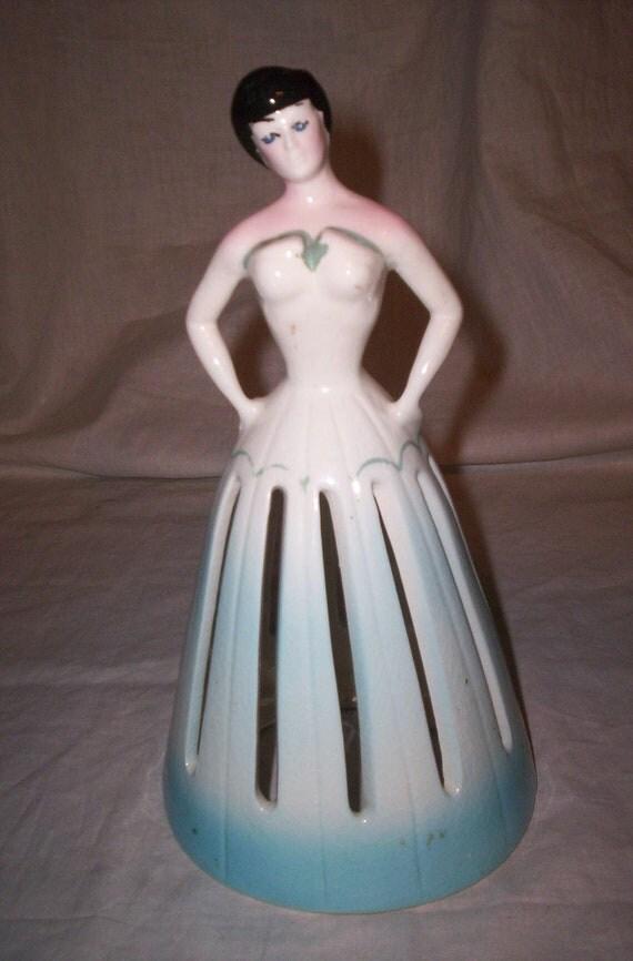 vintage napkin doll lady holder