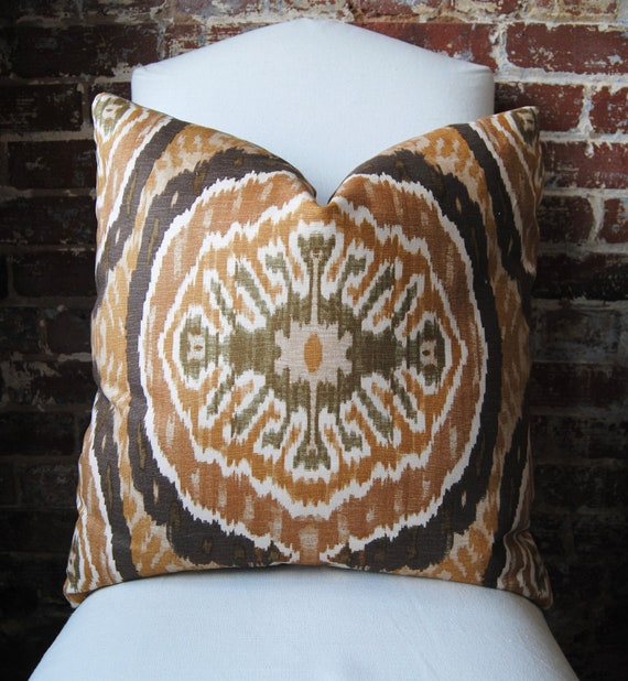 Masala in Tortoise - Duralee - Pillow Cover - 22 in square - Designer Pillow - Decorative Pillow - Throw Pillow