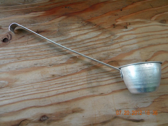 Vintage Aluminum Measuring Cup Long Handle ladle