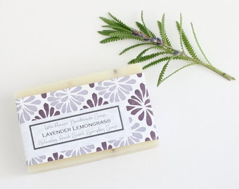Bar Soap Organic Lavender essential oil Soap Natural Lavender Lemongrass Organic Lavender Buds  Home and living bath and beauty bar soaps