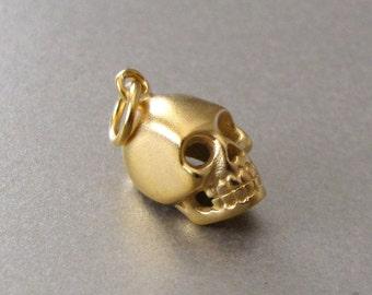 Gold Skull Charm