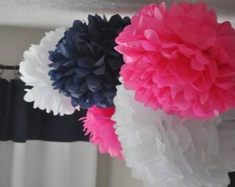 6 Nursery Tissue Poms- Your color choice- Sale