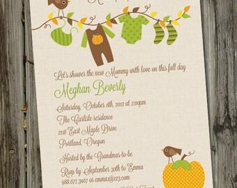 Little Pumpkin Baby Shower Invitation, Fall Baby Shower Invitation, PRINTABLE