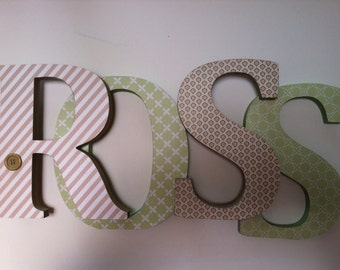Nursery wooden letters stand up