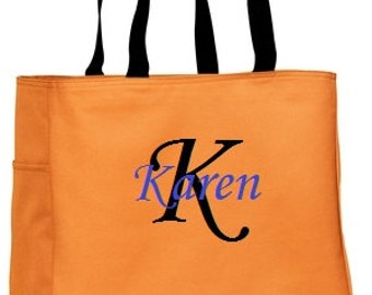 14 Personalized Tote Bags with names embroidered