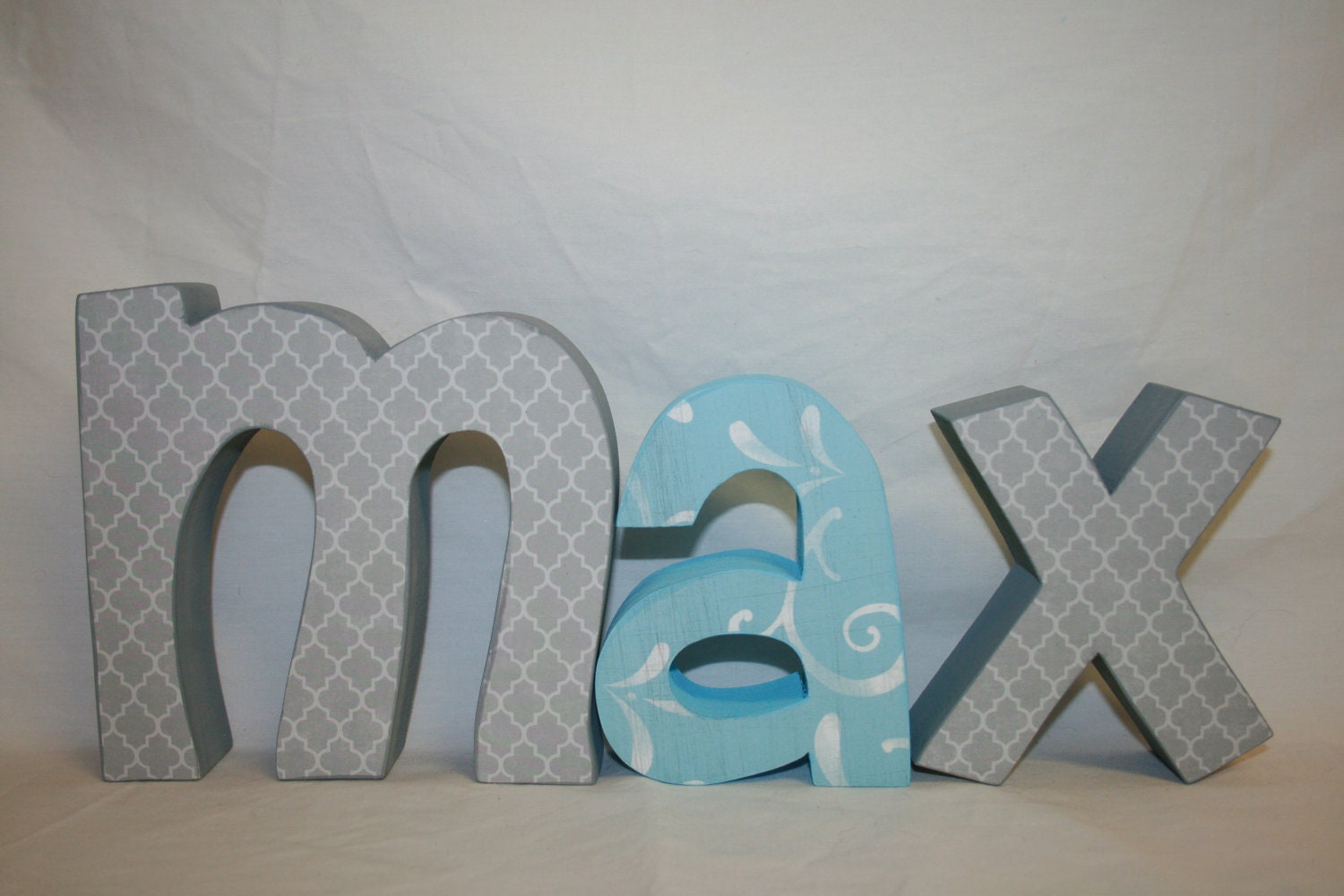 Nursery letters baby nursery letters custom by for Baby room decoration letters