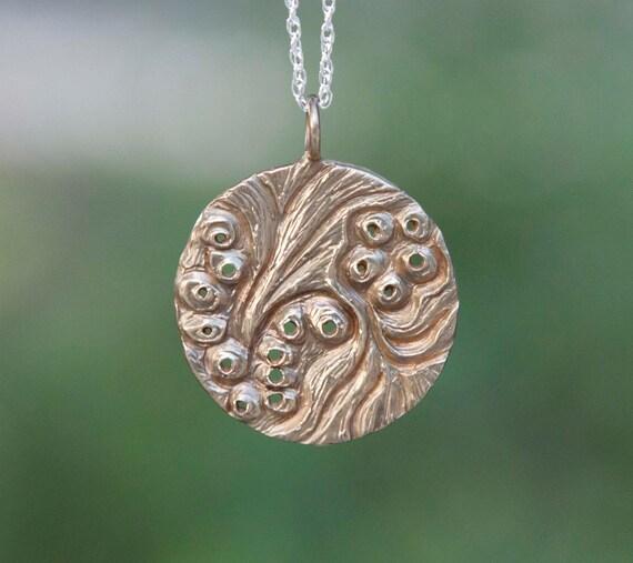 Pisces Zodiac Constellation Necklace - Golden Brass