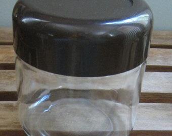 Heller Glass Lidded Jar Canister Mod Design 1970s