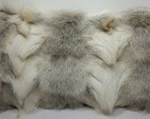 Real Genuine Natural Fawn Light  Fox sections Fur Pillow new  made in usa  authentic fur cushion