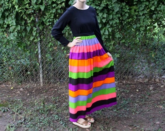 1960s Striped Jonathan Logan Dress