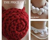 Free CROCHET PATTERN - Crochet Necklace Patterns  / Buy 2 get 1 free / PDF Pattern / crochet accessories pattern / crochet jewelry pattern