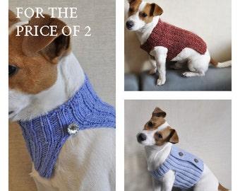 Free crochet patterns, Free knitting pattens, Crochet and Knitting Dog Sweater PATTERN  / Dog Cowl Pattern / Dog clothes pattern /