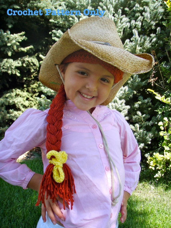 Jessie Toystory Crochet Hat Wig Pattern PDF