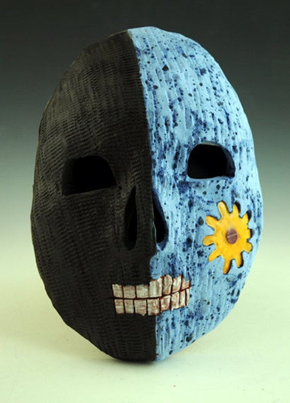 Ceramic skull mask, Day of the Dead, Dia de los Muertos