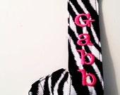Zebra Personalized Pacifier Clip