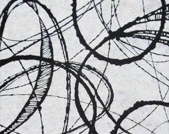 Itenerary - an Original Absract Painting by Sara Larson Art