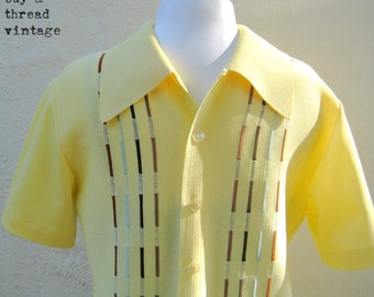 Vintage 70s Yellow Swingers Shirt By Lahmar